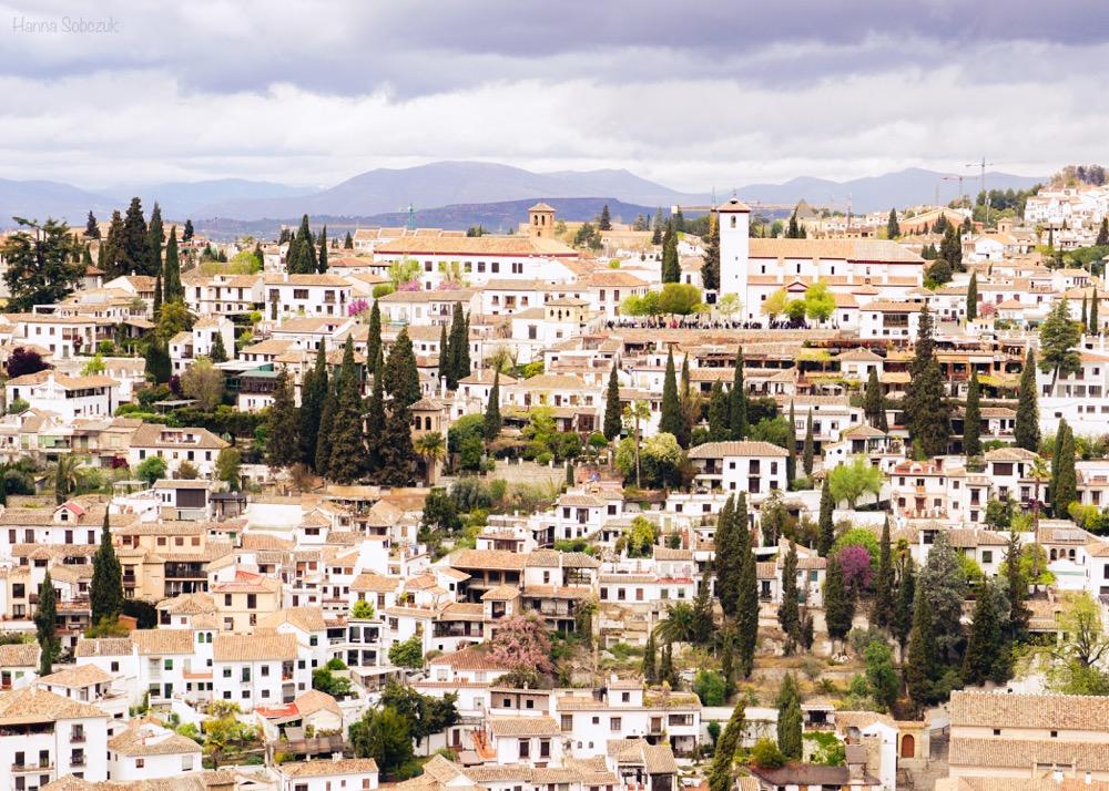 widoki z Alhambry Granada Hiszpania